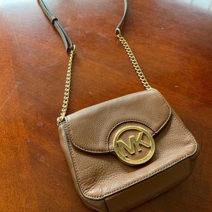 Brown & Gold Michael Kors Crossbody Bag